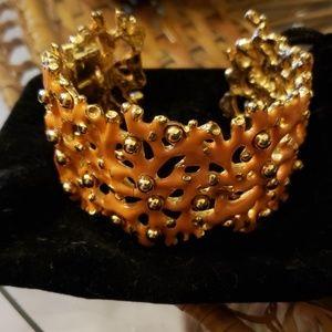 Kenneth Jay lane faux Coral bracelet